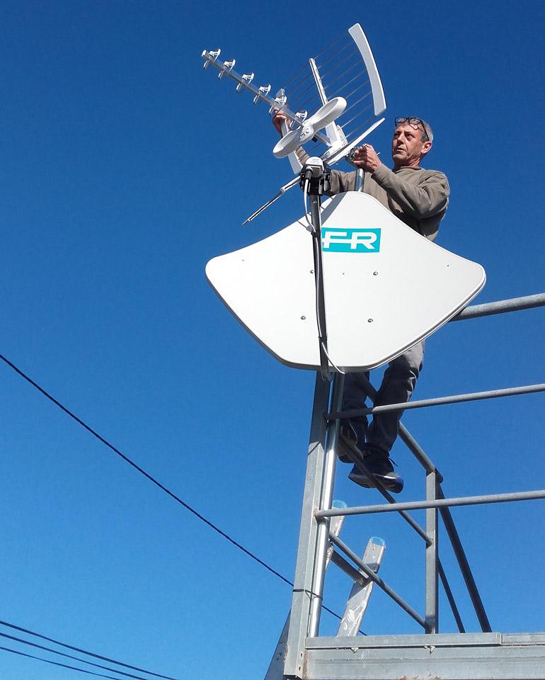 installation antenne râteau Sète